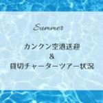 【夏休みシーズン】カンクン空港送迎&貸切チャーターツアー状況