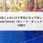 まだ有名じゃないけど有名になってほしくない『Cenote Oxman(セノーテ・オシュマン)』の魅力